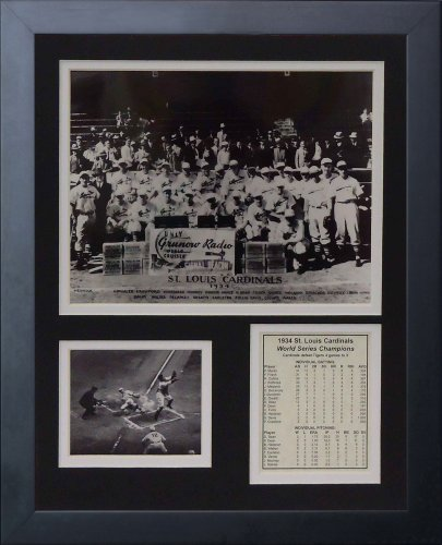 (Legends Never Die 1934 St. Louis Cardinals Posed Framed Photo Collage, 11x14-Inch)