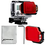 XCSOURCE Underwater Sea Diving Red Color Flip Filter Black Aluminium Frame For GoPro Hero 3+ 4 Housing Case LF632