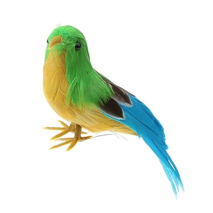 MagiDeal Pe Oiseau Artificiel Décoratif Ornement Réaliste en ... on