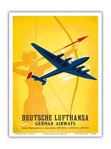 deutsche-lufthansa-german-airways-female-archer-vintage-airline-travel-poster-by-willy-hanke-c1939-m