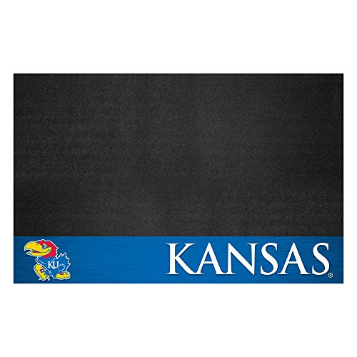 FANMATS NCAA University of Kansas Jayhawks Vinyl Grill Mat
