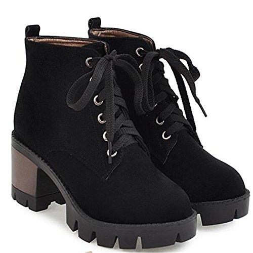 Martin salvaje botas black Invierno ZQ e botas redonda universitarios el cortas QX estudiantes botas Otoño mujer viento gruesa cabeza con con 6f6wtqzUxR