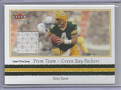 online store 260ce d70dd Amazon.com: 2002 Fleer Premium Football Brett Favre Game ...