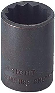 "product image for Wright Tool 34132 1/2"" Drive 12 Point Standard Socket, 1"""
