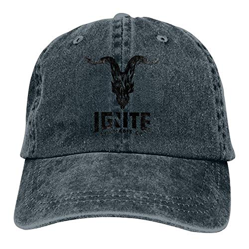 Xie Junsss Dan Bilzerian Ignite Logo Adult Cowboy Baseball Caps Adjustable Snapback Dad Hat for Men Navy