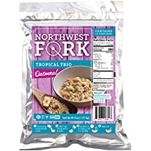 NorthWest Fork Tropical Trio Oatmeal (Gluten-Free, Non-GMO, Kosher, Vegan) 15 Serving Bag - 10+ Year Shelf Life