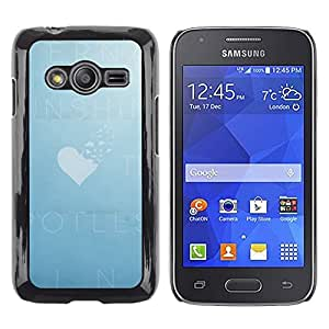 LECELL--Funda protectora / Cubierta / Piel For Samsung Galaxy Ace 4 G313 SM-G313F -- Sky Heart Love Cloud Deep Summer --