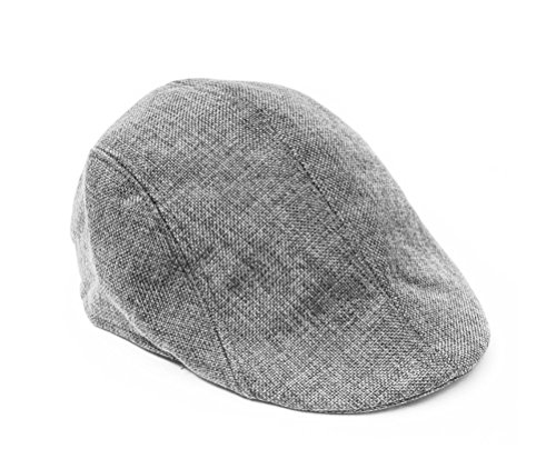 Chapeau, Beret, Casquette plate en mélange de Coton et Lin, Taille unique - Couleur Gris Clair, Unisex