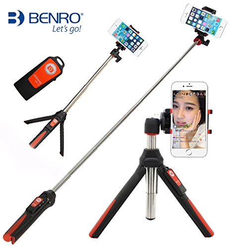 Handheld Self portrait Monopod Extendable Bluetooth