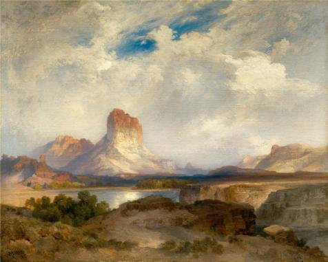 [Perfect Effect Canvas ,the High Resolution Art Decorative Prints On Canvas Of Oil Painting 'Thomas Moran,Castle Rock,Green River,Wyoming,1915', 16x20 Inch / 41x51 Cm Is Best For Bedroom Decor And Home Decoration And] (Audreys Costume Castle)