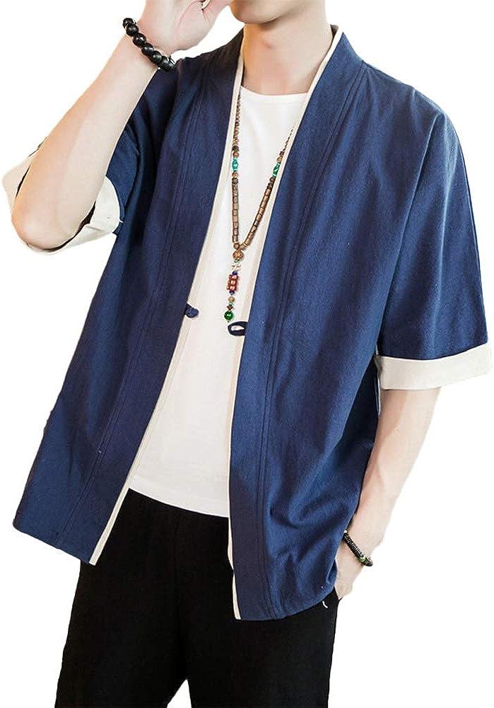 Shaoyao Hombres Cárdigan Chaqueta De Kimono Japonesa Chaqueta De Informal Chino: Amazon.es: Ropa y accesorios