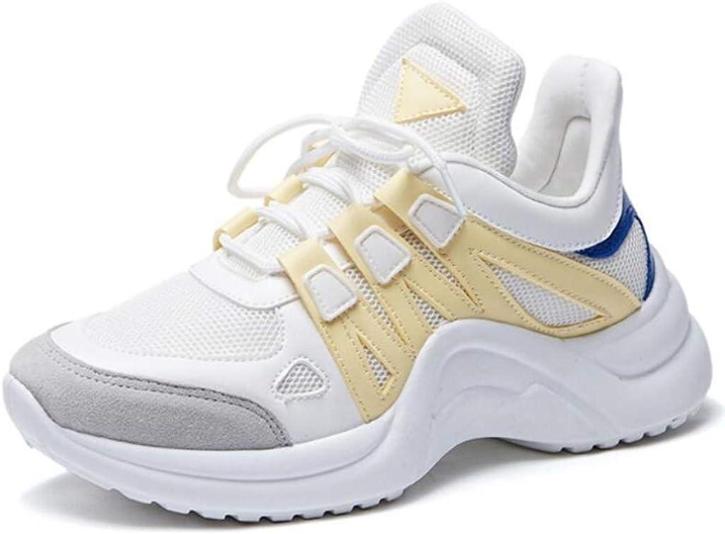 Hombres Mujeres Zapatos para Caminar Livianos Zapatillas De Deporte Transpirables con Plataforma Air Mesh Zapatillas con Cordones Go Running Zapatillas Bajas Top Vulcanize: Amazon.es: Zapatos y complementos