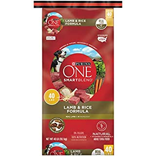 Purina ONE Natural Dry Dog Food, SmartBlend Lamb & Rice Formula - 40 lb. Bag