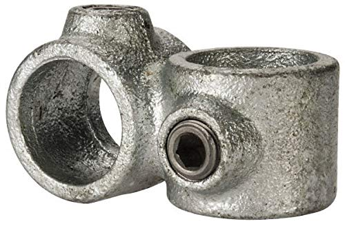 PRO-SAFE - 3/4 Inch Pipe, Crossover, Malleable Iron Pipe Rail Fitting (3 Pack)