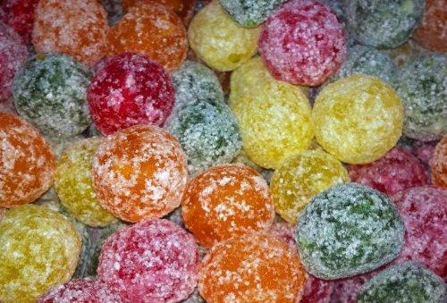 Mega Sour Assorted Fruit Fizz Bombs (extremely sour) 500 gram bag (1/2 kilo) by (Mega Sour)