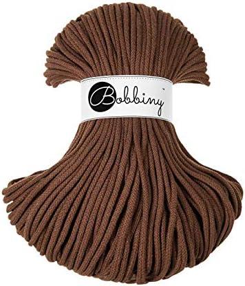 Bobbiny Cords 5 mm Hilo para hilo 100 m chocolate