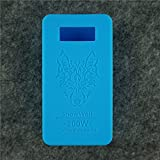 Case for SnowWolf Snow Wolf 200w Mod Silicone Skin Sleeve Skin Wrap Cover Sticker (light blue)