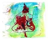 Beautiful Polychrome Painting Design Oblong Mouse Pad Splash