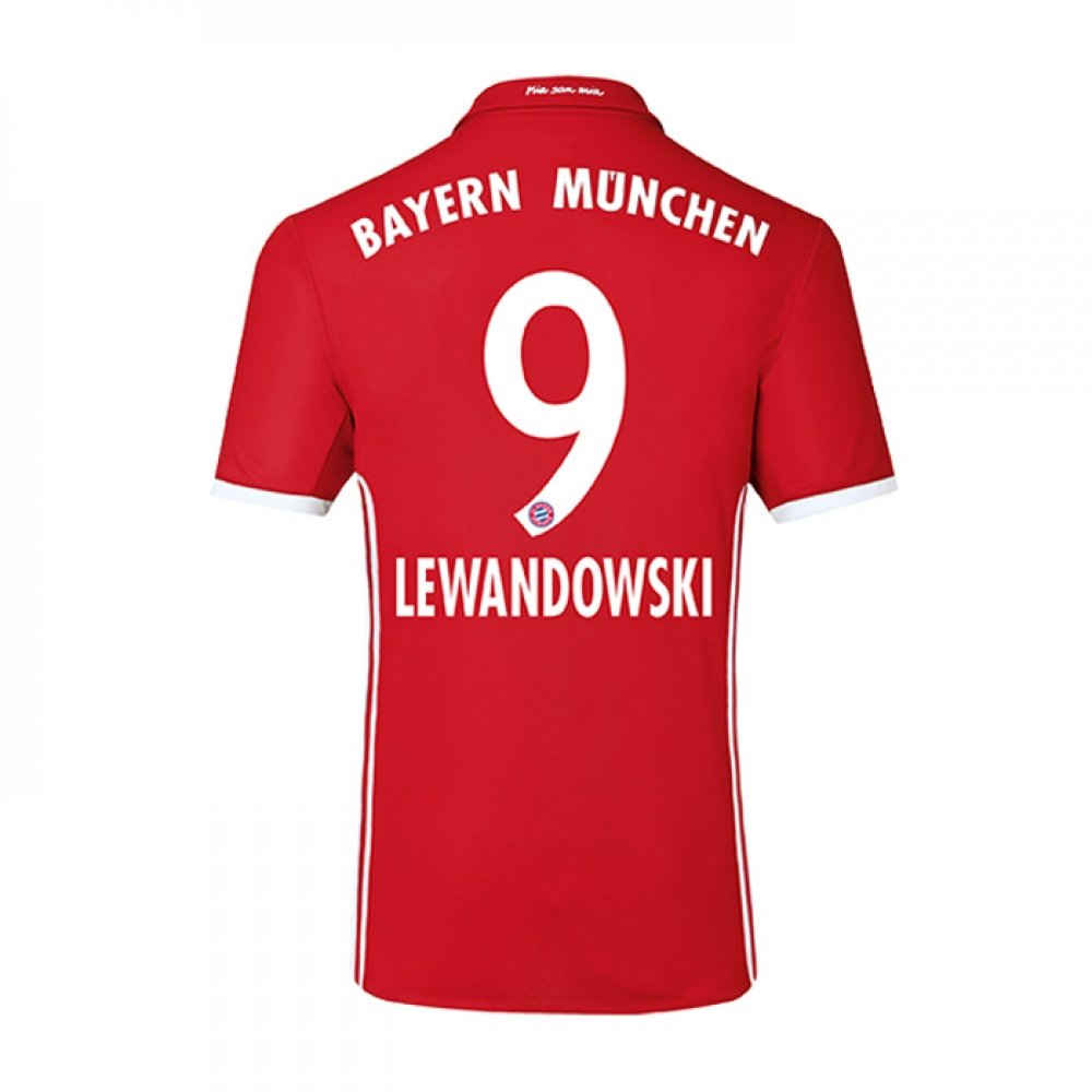 2016-17 Bayern Home Football Soccer T-Shirt Trikot (Robert Lewandowski 9) - Kids