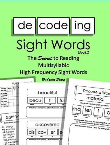 Decoding sight words book 2 the secret to reading high frequency decoding sight words book 2 the secret to reading high frequency sight words word ibookread PDF