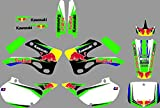 DST0674 Custom Kawasaki motorcycle Decal Kit Motorcross Graphics dirt bike Sticker for Kawasaki KX125 KX250 1999 2000 2001 2002 3M Adhesive Decals