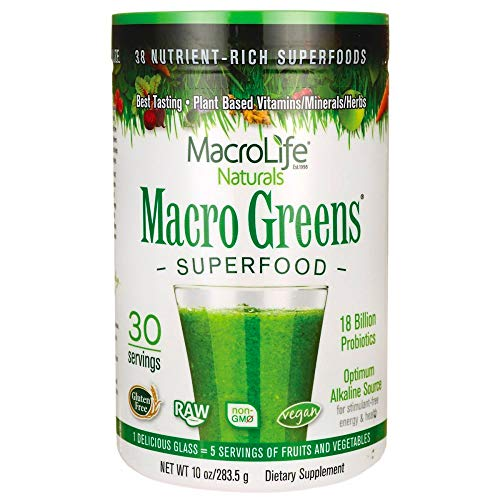 MacroLife Naturals Macro Greens Superfood – 10z - 30 Servings
