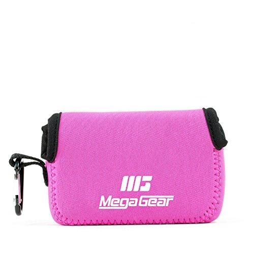 MegaGear 'Ultra Light' Neoprene Camera Case Bag with Carabiner for Canon PowerShot G7X, Canon PowerShot G7 X Mark II Cameras (HotPink)