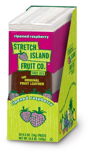 STRETCH ISLAND FRUIT LEATHER,RASPBERRY, .5 OZ, 30 count ()