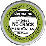 Intensive No Crack Hand Cream - Best Hand & Foot Treatment for Dry Skin, Calluses, Cracked Skin Repair & Cuticle Cream. Soothes & Nourishes Dry Skin with Cocoa & Shea Butter, Vitamin E, C & B5