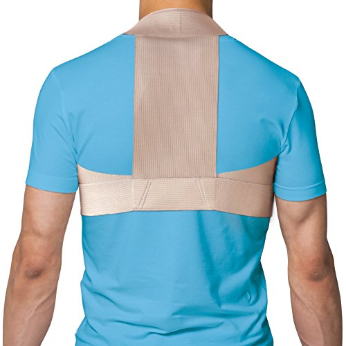 Splint Clavicle (TOROS-GROUP Elastic Upper Back Posture Corrector and Clavicle Support Brace - X-Large Beige)