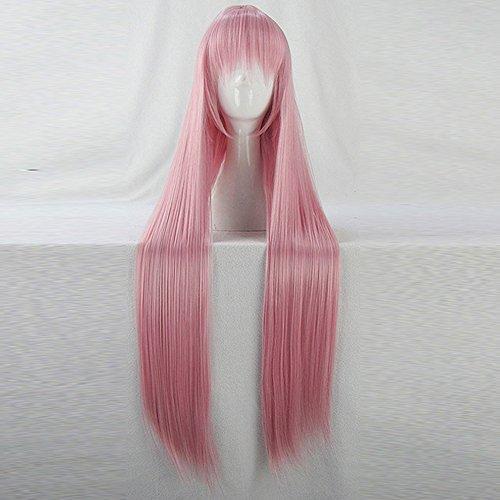 Lucky Star Takara Miyuki Pink Mix 100CM Long Cosplay Costume Wig + Free Wig Cap