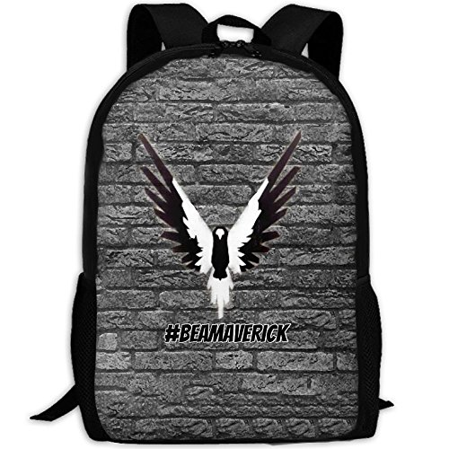 MKKR2 Black And White Logan-paul-Maverick 3D Adult Outdoor Leisure Sports Backpack And School Backpack