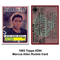 Topps Oakland Raiders Marcus Allen 1983 Rookie Trading Card