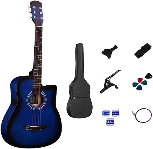 Guitarra Acústica Madera Kits para Principiantes 38 Pulgadas De ...