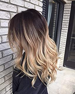 One piece clip in hair extensions dark brown to sandy blonde 17 one piece full head clip in hair extensions ombre wavy curly dark brown pmusecretfo Images
