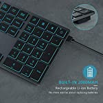 Bluetooth Backlit Keyboard, Jelly Comb Wireless Backlight Rechargeable Keyboard Qwerty UK Layout for Computer/Laptop…