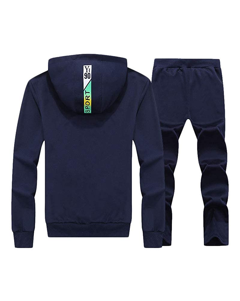 Liangzhu Herren Jogginganzug Mit Kapuze Reißverschluss Trainingsanzug Sportanzug Freizeitanzug Hausanzug 2 Sätze Sporthose Jacke