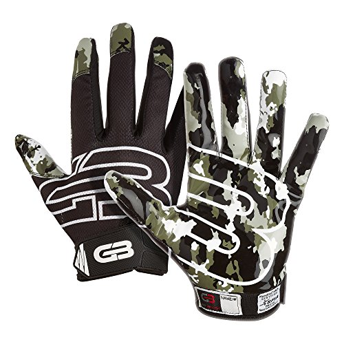 Grip Boost Stealth Football Gloves Pro Elite (Black, Youth Large)