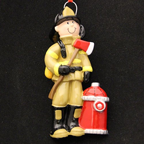 Fireman Personalized Christmas Tree Ornament