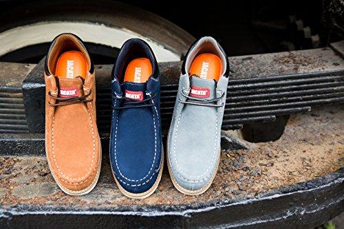 6c9ed5c4401 Jacata Men's Low-Cut Work Boots Water Resistant Boots Natural Rubber ...
