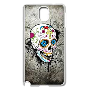 Samsung Galaxy Note 3 Cell Phone Case White Sugar Skull Cover aaob