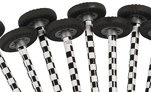 Checkered Race Car Pencils with Wheel Erasers - 12 pc (Car Flag Race)