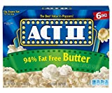 popcorn act 2 - Act II Popcorn 94% Fat Free Butter Flavored, 16.29 oz,6 Count (Pack of 6)