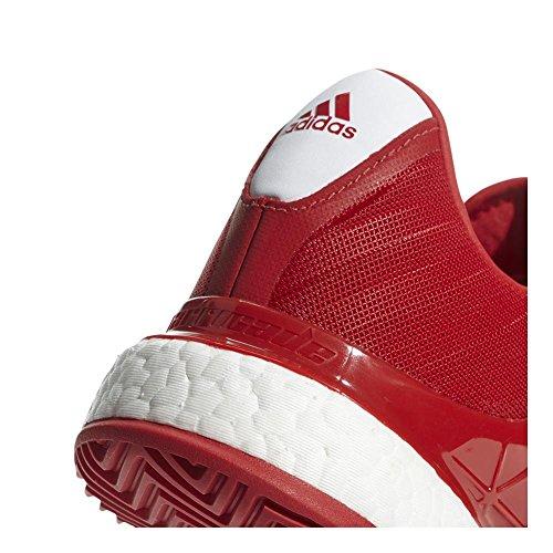 Adidas Heren Barricade Boost 2018 Tennisschoen Scarlet / Wit / Scarlet