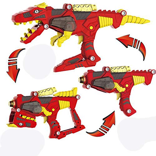 Insaneness Xmas Toys Gifts Transforming Dinosaur Toy Lights Sound 3 in 1 T-Rex Super Charge Morpher Toy -