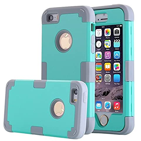 Asstar 3 in 1 Hard PC+ Soft TPU Impact Protection Heavy Duty Shockproof Full-Body Protective Case for Apple iPhone SE / iPhone 5 5S - Mint (Cheap Iphone 5 Speck Cases)