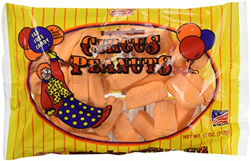 Candy Peanut Peanuts Circus - Melster Marshmallow Circus Peanuts (Pack of 2) 11 oz Bags