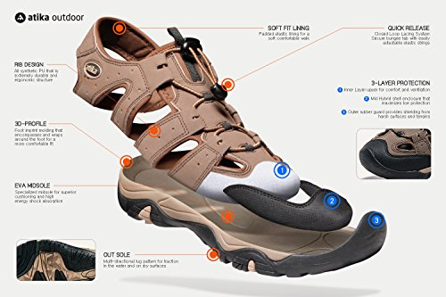 Trail Outdoor Water ATIKA W107 Sport Women's Shoes Maya WNE Sandals W107 gxqgIwfEt