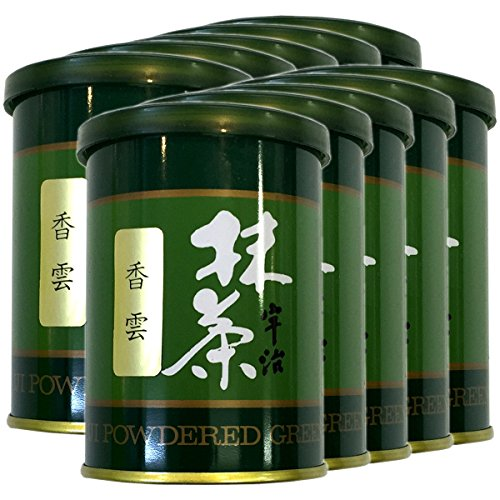 Japanese Tea Shop Yamaneen Powdered Green Tea Mattcha Powder Kouun 40G x 10packs by Japanese Tea Shop Yamaneen