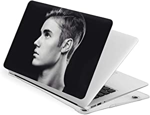 Laptop Case 13 Inch Case Jus-Tin Bie-BER 2020, PVC Plastic Compatible Air New Air13 Protective Snap On Hard Shell Cover for Retina Display with Touch Id, Crystal Clear